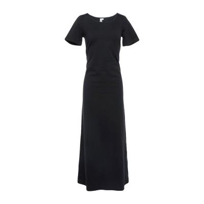 ANTONELLA VALSECCHI ロングワンピース&ドレス ブラック M コットン 100% ロングワンピース&ドレス