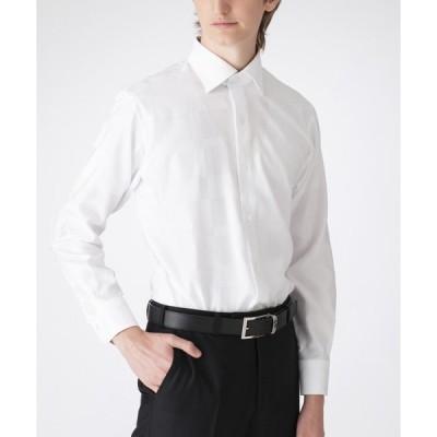 シャツ ブラウス シャドークレストブリッジチェックセミワイドカラーシャツ