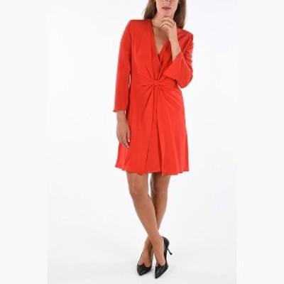 EMPORIO ARMANI/エンポリオ アルマーニ チュニック Red レディース 春夏2019 EMPORIO V-Neck Silk Tunic Dress dk
