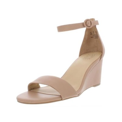 レディース 靴 コンフォートシューズ Naturalizer Womens London Solid Ankle Strap Wedge Sandals