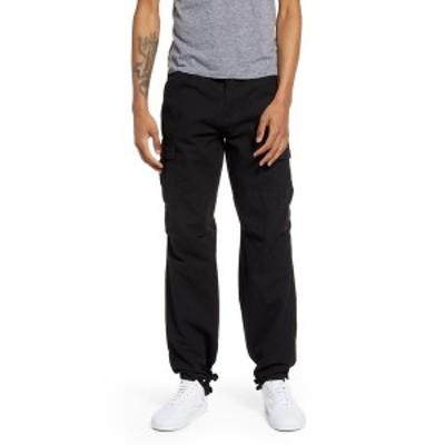リラクロージング メンズ カジュアルパンツ ボトムス Geneir Slim Fit Pants BLACK