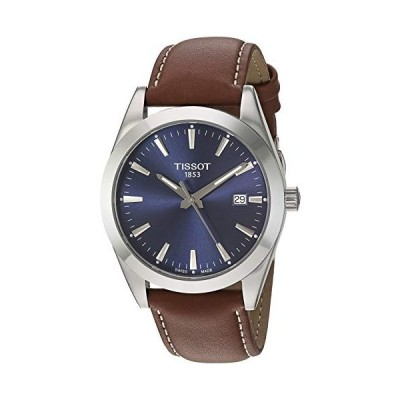 腕時計 ティソ メンズ T1274101604100 Tissot mens Gentleman Stainless Steel Dress Watch Brown T12741016