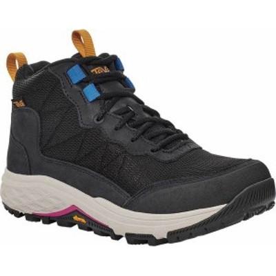 テバ レディース ブーツ・レインブーツ シューズ Women's Teva Ridgeview Mid RP Waterproof Boot Black/ Bungee Cord Leather/Textile
