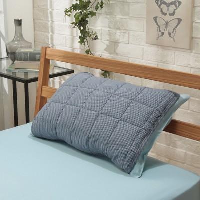 オーガニックコットン使用 しじら織 枕パッド ブルー