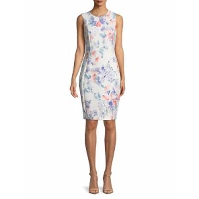 カルバンクライン レディース ワンピース Sleeveless Floral Sheath Dress