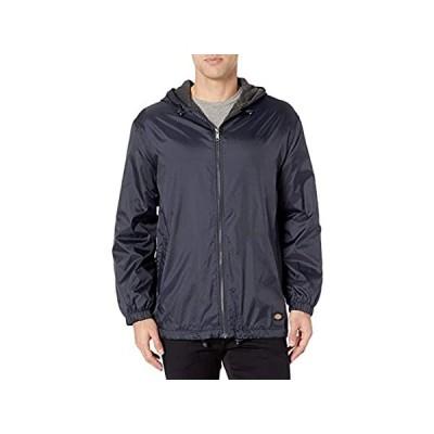 Dickies Men's Fleece Lined Hooded Jacket, Dark Navy, XX-Large