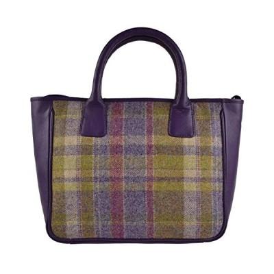 Ladies Leather & British Tweed Grab Bag by Mala; Abertweed Collection Handbag 並行輸入品