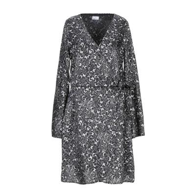 ベルナ BERNA ミニワンピース&ドレス ブラック XS ポリエステル 100% ミニワンピース&ドレス