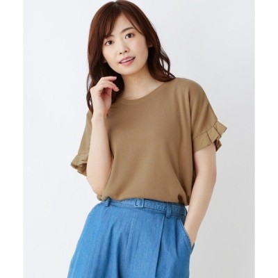 tシャツ Tシャツ 袖タック ワッフルプルオーバー