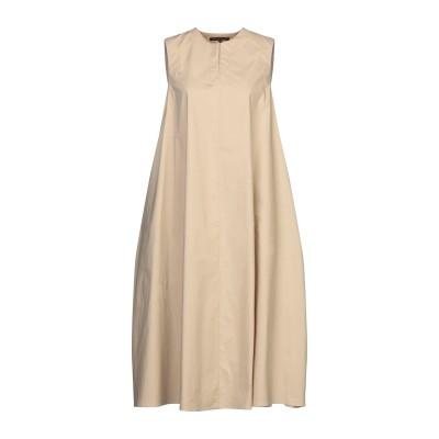 ブライアン デールズ BRIAN DALES 7分丈ワンピース・ドレス ベージュ 42 コットン 97% / ポリウレタン 3% 7分丈ワンピース・