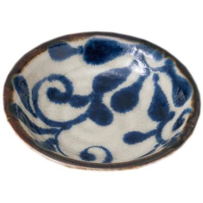小皿 和食器 / 琉球るり唐草 3.0皿 寸法: 9.5 x 2.2cm