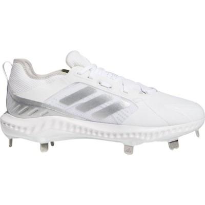 アディダス adidas レディース 野球 スパイク シューズ・靴 PureHustle Metal Fastpitch Softball Cleats White/Silver