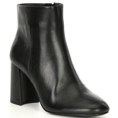 ジービー レディース ブーツ・レインブーツ シューズ A-Dore Leather Side Zip Block Heel Dress Booties