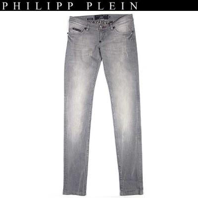 【送料無料】 フィリッププレイン(PHILIPP PLEIN) レディース スリム フィット デニム ジーンズ CW560002 10RD 13A
