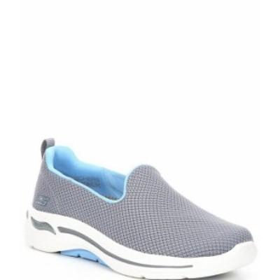 スケッチャーズ レディース スニーカー シューズ GOwalk Arch Fit Grateful Walking Shoes Gray