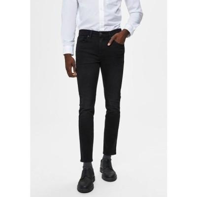 セレクテッドオム デニムパンツ メンズ ボトムス Jeans Skinny Fit - black denim