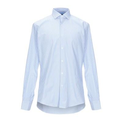 LIU •JO MAN シャツ スカイブルー 43 コットン 100% シャツ