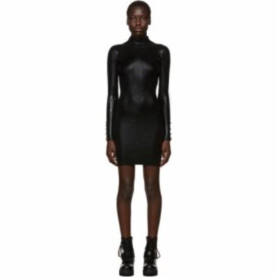 ヴェルサーチ Versace Jeans Couture レディース ワンピース ワンピース・ドレス black lame turtleneck dress