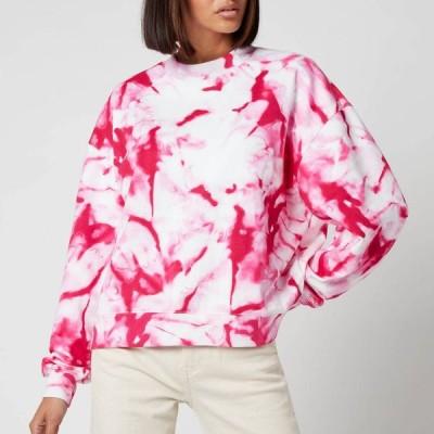 カルバンクライン Calvin Klein Jeans レディース スウェット・トレーナー トップス Marble AOP Crew Neck - Cerise Marble AOP Pink