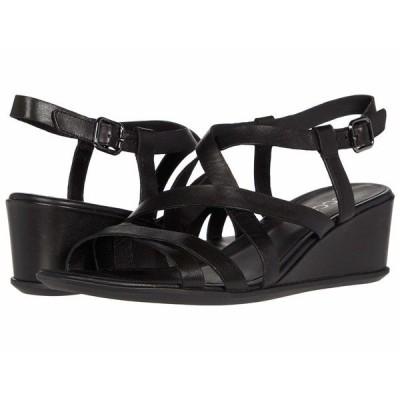 エコー ヒール シューズ レディース Shape 35 Wedge Sandal Black Cow Leather