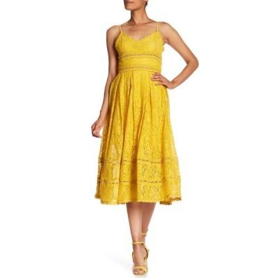 エヌ・エス・アール レディース ワンピース トップス Sleeveless Lace Midi Dress MUSTARD