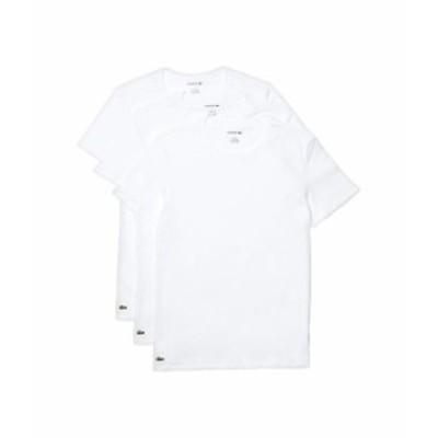 ラコステ メンズ シャツ トップス 3-Pack Crew Neck Slim Essential T-Shirt White