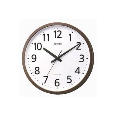 リズム時計 電波掛時計/フィットウェーブジニア 茶メタリック 4MYA38SR06(取寄せ/代引不可)
