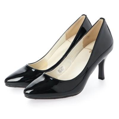 シューズラウンジ shoes lounge ヒール パンプス 80BD40004BLA-E (ブラック)