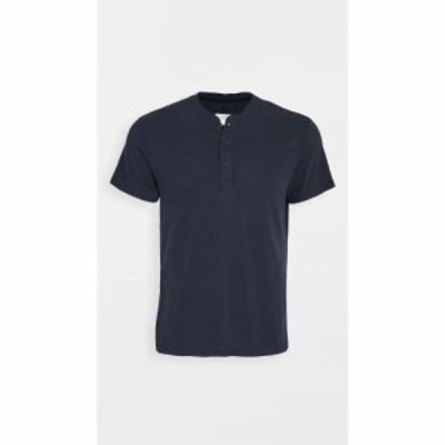 ラグandボーン Rag and Bone メンズ Tシャツ ヘンリーシャツ トップス classic short sleeve henley Deep Navy