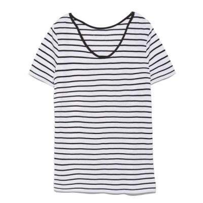 【エミ】 接結Tシャツ レディース WHTXBLK F emmi
