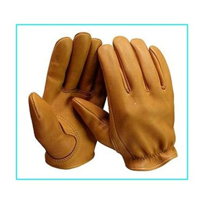 Churchill Classic Short Wrist Deerskin Motorcycle Gloves Made in America Tan (Xlarge)【並行輸入品】