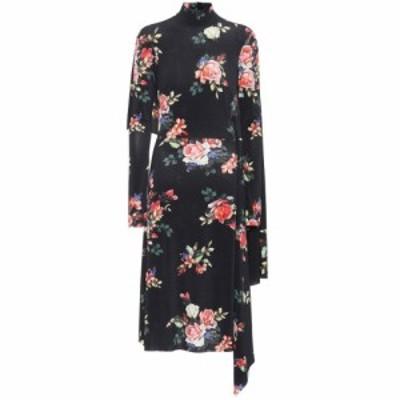 ヴェトモン Vetements レディース ワンピース ワンピース・ドレス Floral-printed dress Noir Imprime