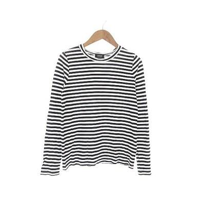 【中古】ジャーナルスタンダードレサージュ journal standard L'essage Tシャツ カットソー 長袖 ボーダー 黒 ブラック /AAM4 レディース 【ベクトル 古着】