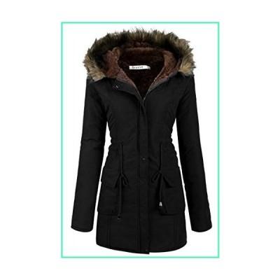 Beyove Womens Military Hooded Warm Winter Faux Fur Lined Parkas Anroaks Long Coats並行輸入品