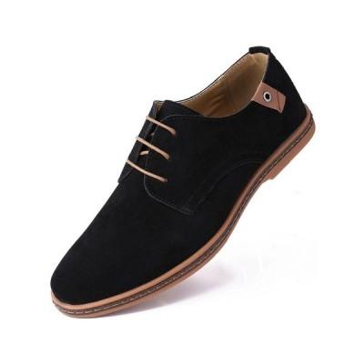 ミオマリオ ドレスシューズ シューズ メンズ Men's Classic Suede Derby Oxford Shoes Black