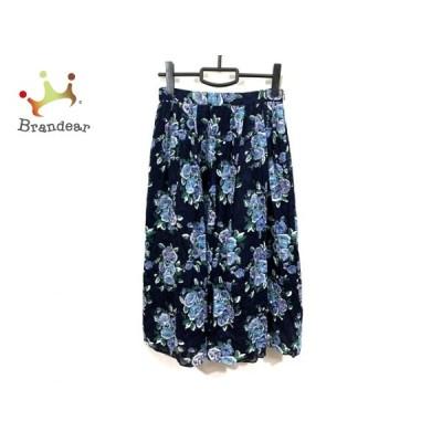 ブルーレーベルクレストブリッジ ロングスカート サイズ38 M レディース 美品 - 花柄 新着 20200818