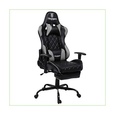 HEALGEN Gaming Chair Racing Style Gamer Chair Ergonomic Leather Video Game Chair High Back and Seat Height Adjustable Swivel Computer Gaming