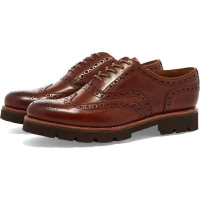 グレンソン Grenson メンズ シューズ・靴 stanley commando sole Tan Handpainted