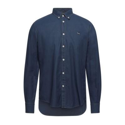 HARMONT&BLAINE シャツ ダークブルー L リネン 55% / コットン 45% シャツ