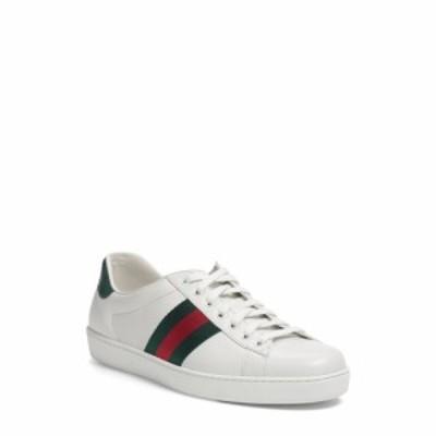 グッチ GUCCI メンズ スニーカー シューズ・靴 New Ace Sneaker White Leather