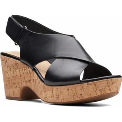 クラークス レディース サンダル シューズ Women's Clarks Maritsa Lara Platform Sandal Black Leather