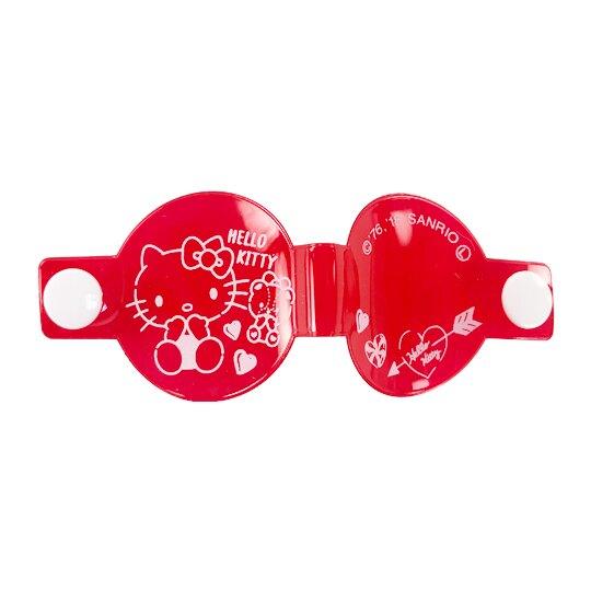 小禮堂 Hello Kitty 圓形透明姓名標籤扣組 姓名扣帶 姓名吊牌 銅板小物 (2入 紅)