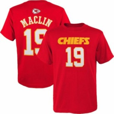 Outerstuff アウタースタッフ スポーツ用品  Jeremy Maclin Kansas City Chiefs Youth Red Mainliner Name & Number T-Shirt