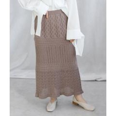 ANDJ(アンドジェイ)透かし編みクロシェロングスカート【お取り寄せ商品】