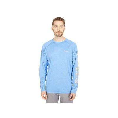 コロンビア Terminal Tackle Heather Long Sleeve Shirt メンズ シャツ トップス Vivid Blue Heather/Bright Nectar Logo