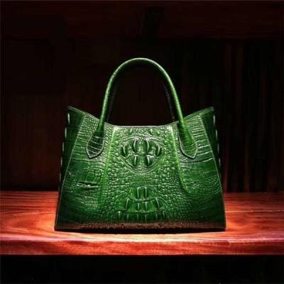 バッグ ハンドバッグ レディース Luxurious New Women's Ladies Crocodile Embossed Handbag Real Leather ShoulderBag