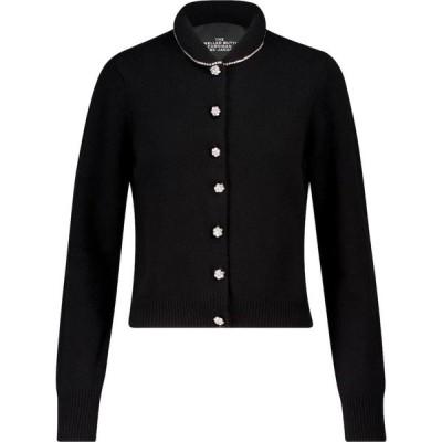 マーク ジェイコブス Marc Jacobs レディース カーディガン トップス The Jeweled Button wool-blend cardigan Black