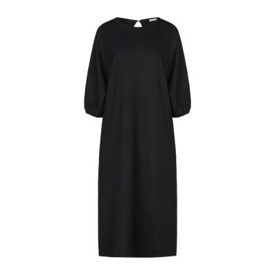 マウロ グリフォーニ MAURO GRIFONI 7分丈ワンピース・ドレス ブラック 44 ポリエステル 53% / バージンウール 43% / ポ