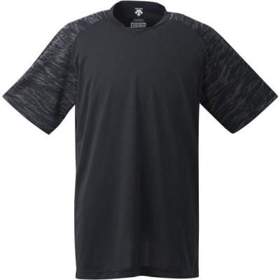 アンダーシャツ メンズ Tシャツ メンズ トップス メンズ ベースボールシャツ ブラック (DES)(CQB27)