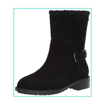 【新品】Cole Haan Women's Quiana Bootie Ankle Boot, Black Wp Sd/Black SHR, 7 B US(並行輸入品)